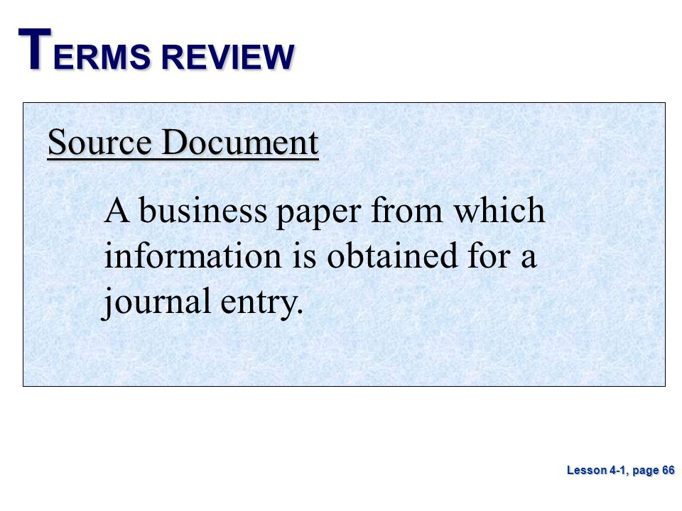 TERMS REVIEW Source Document