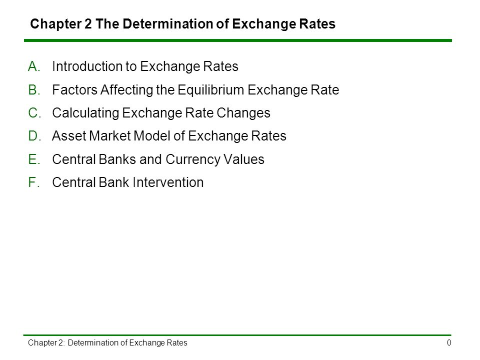 A Introduction To Exchange Rates 1