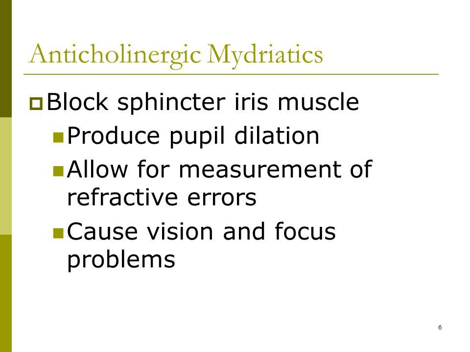 anticholinergic mydriatics