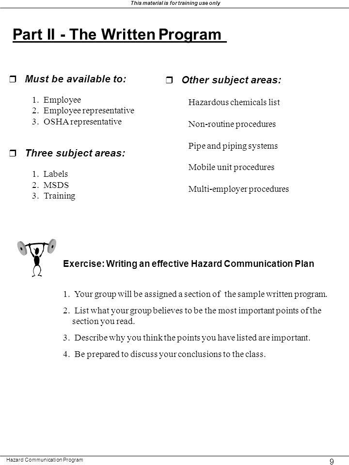 HAZARD COMMUNICATION PROGRAM Ppt Download - Osha hazard communication program template