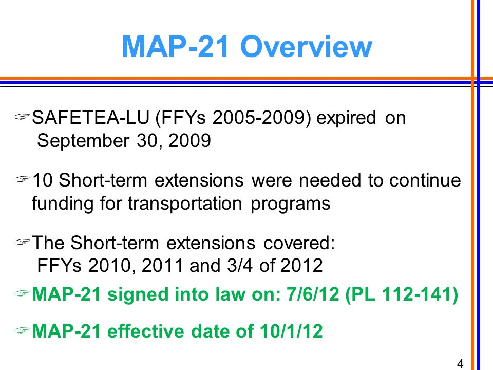 Map 21 Act.Map 21 Moving Ahead For Progress In The 21st Century Act Ppt