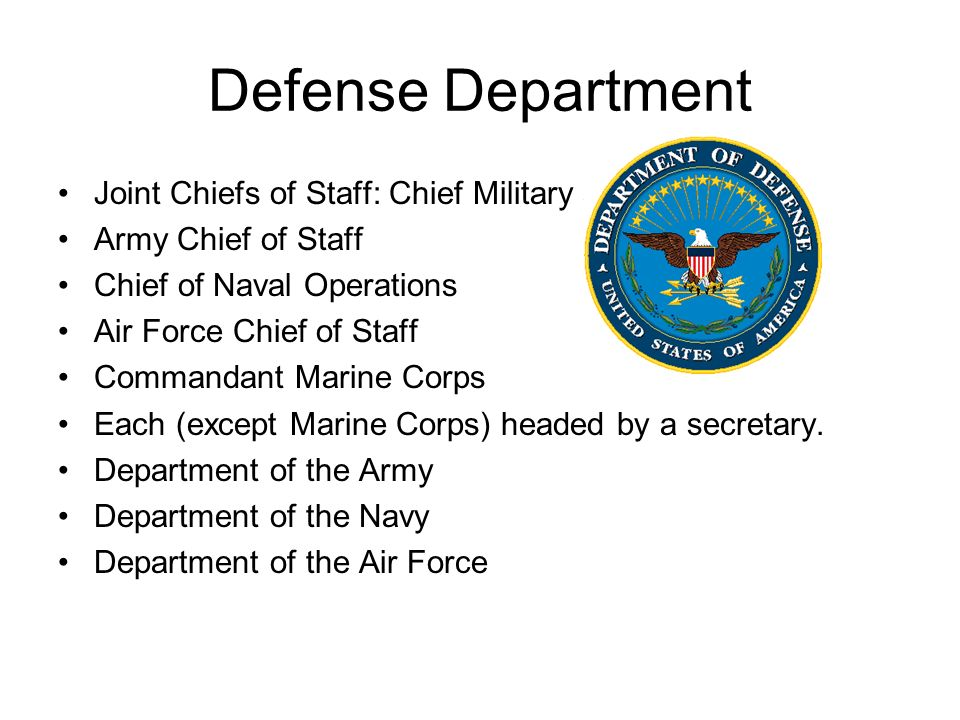 Defense Department Joint Chiefs of Staff: Chief Military advisors