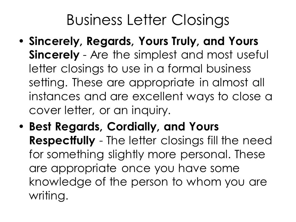 How to Write a Business Letter ppt video online
