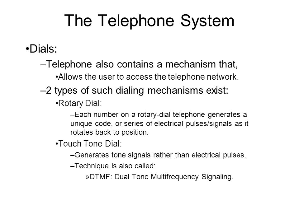 Touch Tone Dial Telephone