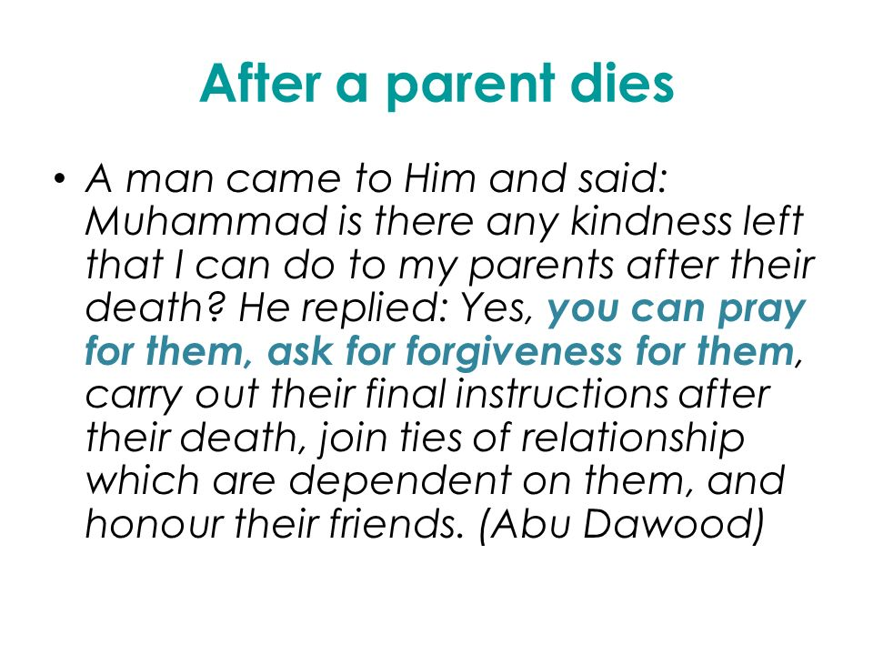After A Parent Dies