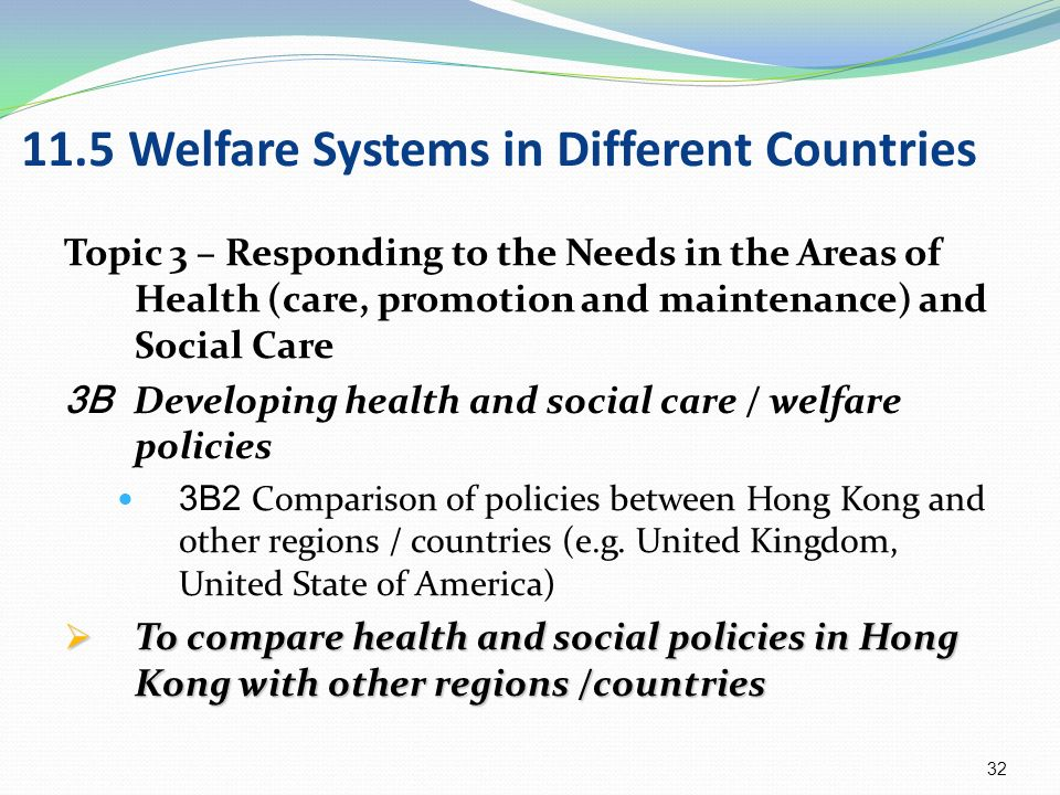 welfare systems in other countries