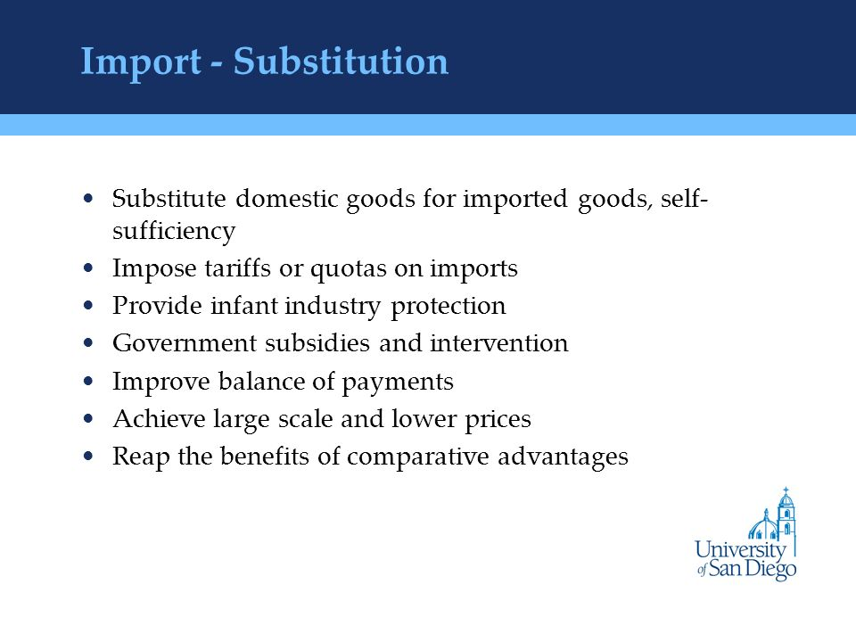 advantages of import substitution