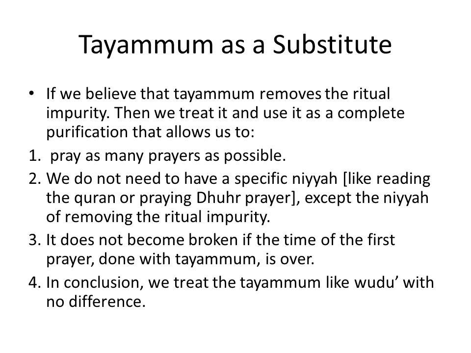 tayammum in quran