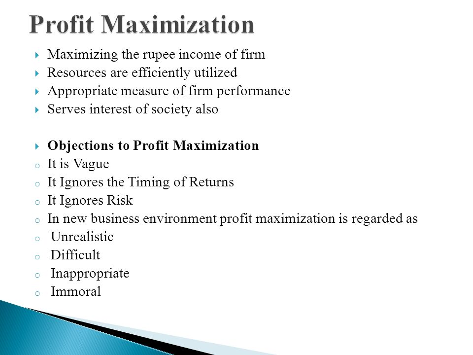 profit maximization objective