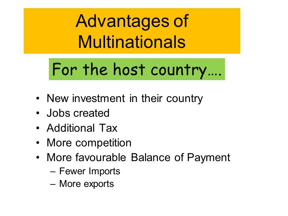 advantages of multinationals