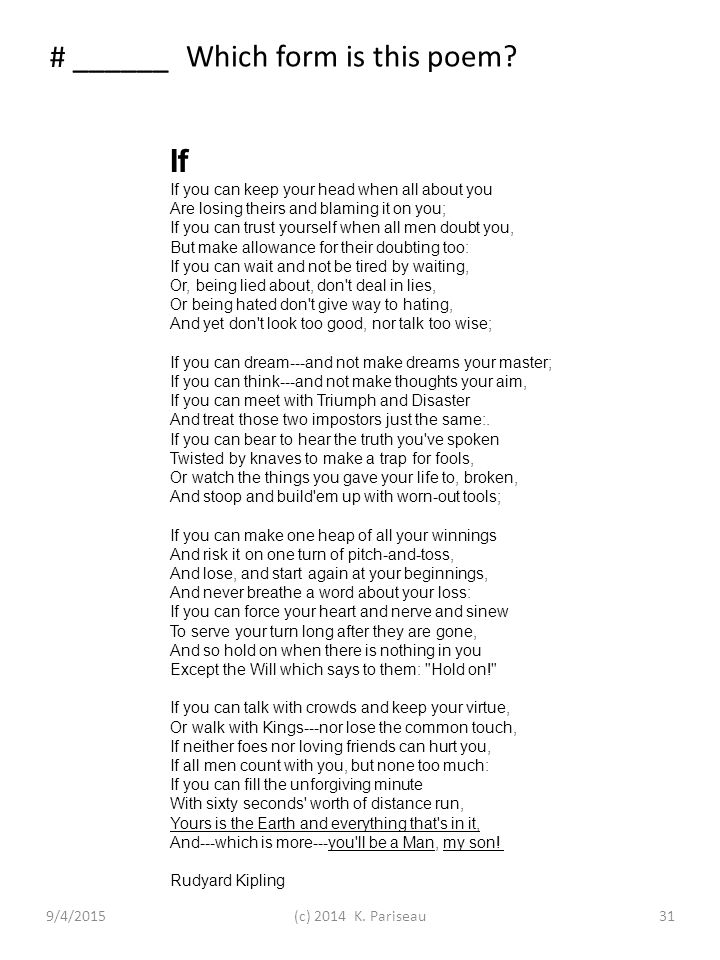 Rigorous Poetry Post-test 2014 – page 2a Identifying the