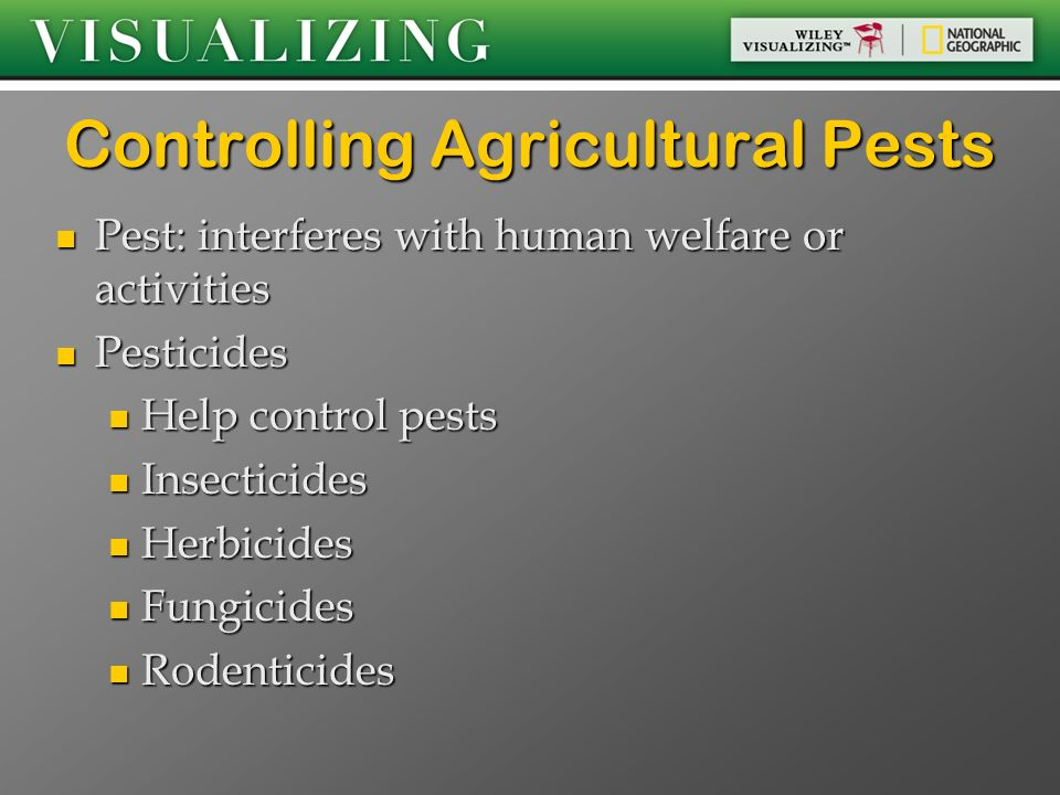 Controlling Agricultural Pests