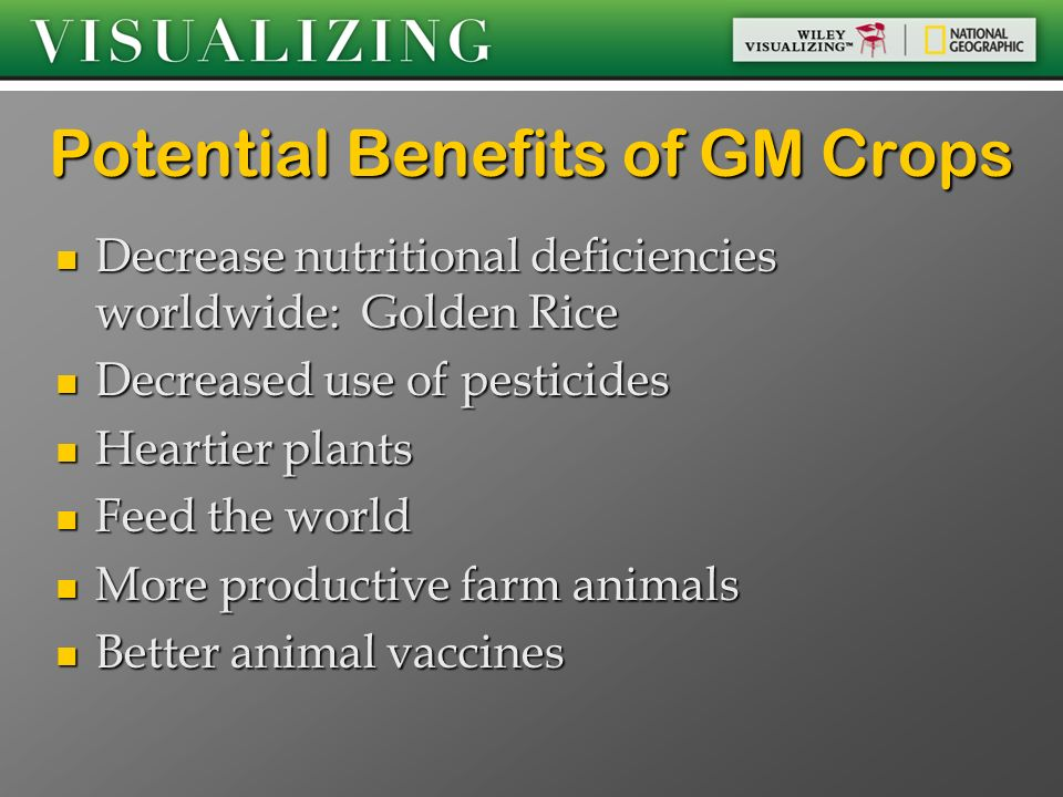 Potential Benefits of GM Crops