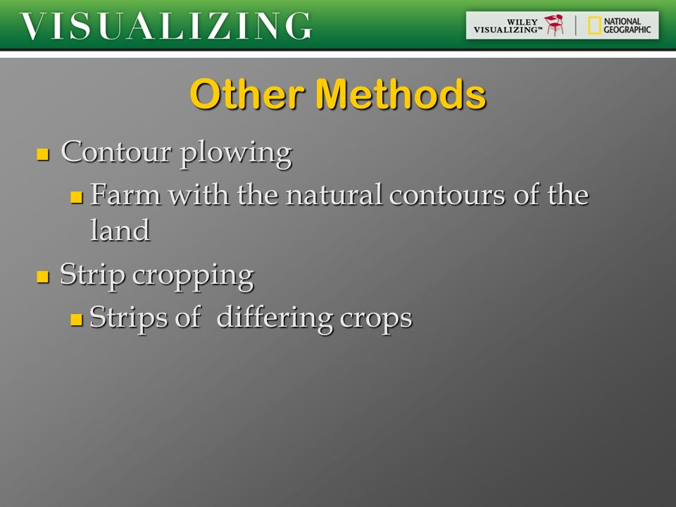 Other Methods Contour plowing