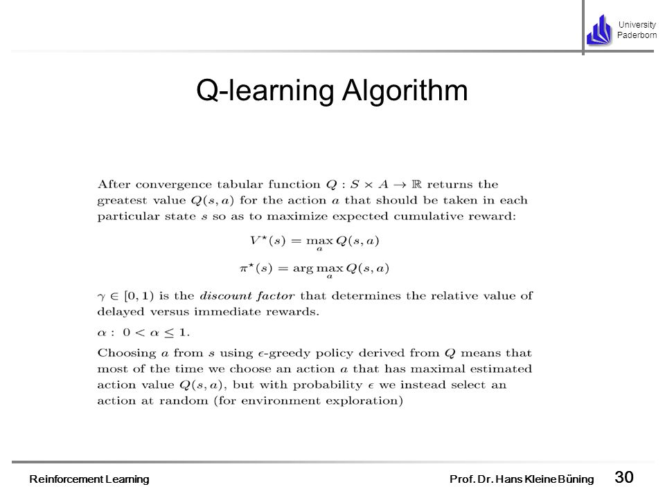 Q-learning Algorithm