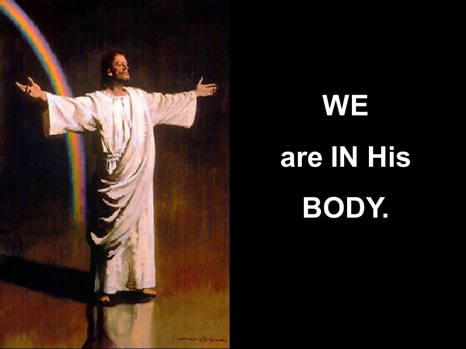 WE are IN His BODY.