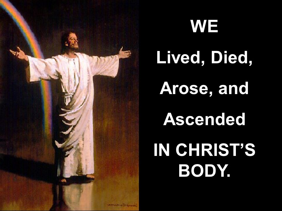 WE Lived, Died, Arose, and Ascended IN CHRIST'S BODY.