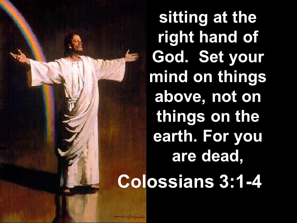 sitting at the right hand of God