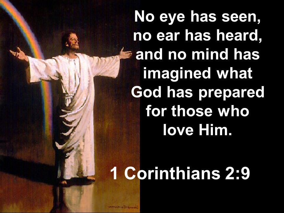 No eye has seen, no ear has heard, and no mind has imagined what God has prepared for those who love Him.