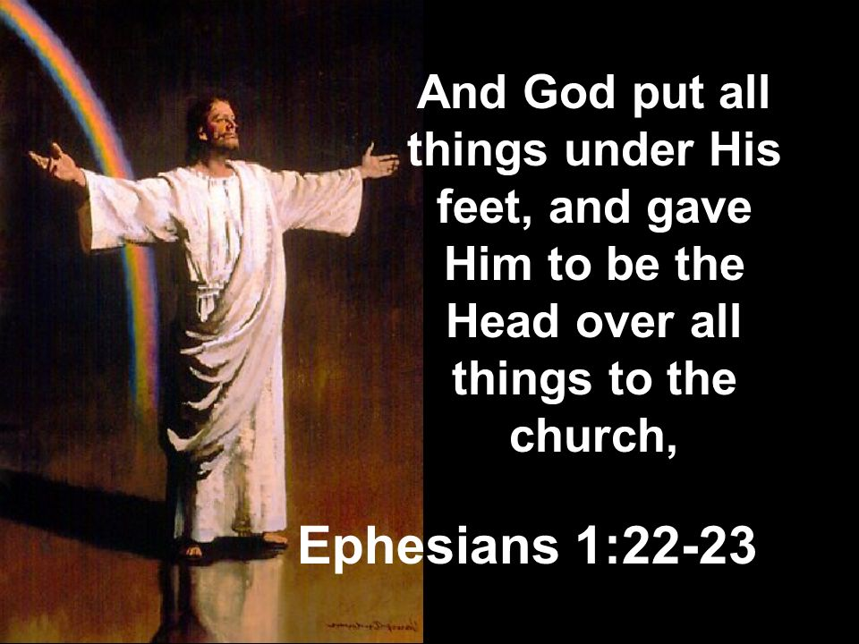And God put all things under His feet, and gave Him to be the Head over all things to the church,