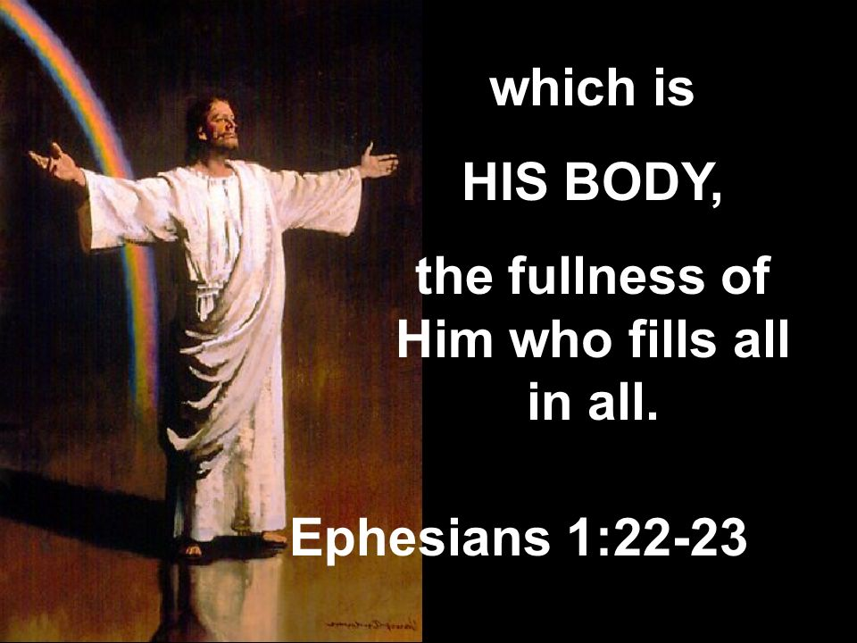 the fullness of Him who fills all in all.