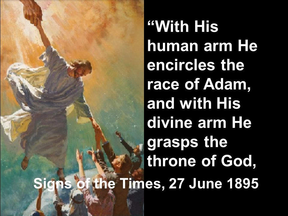 With His human arm He encircles the race of Adam, and with His divine arm He grasps the throne of God,