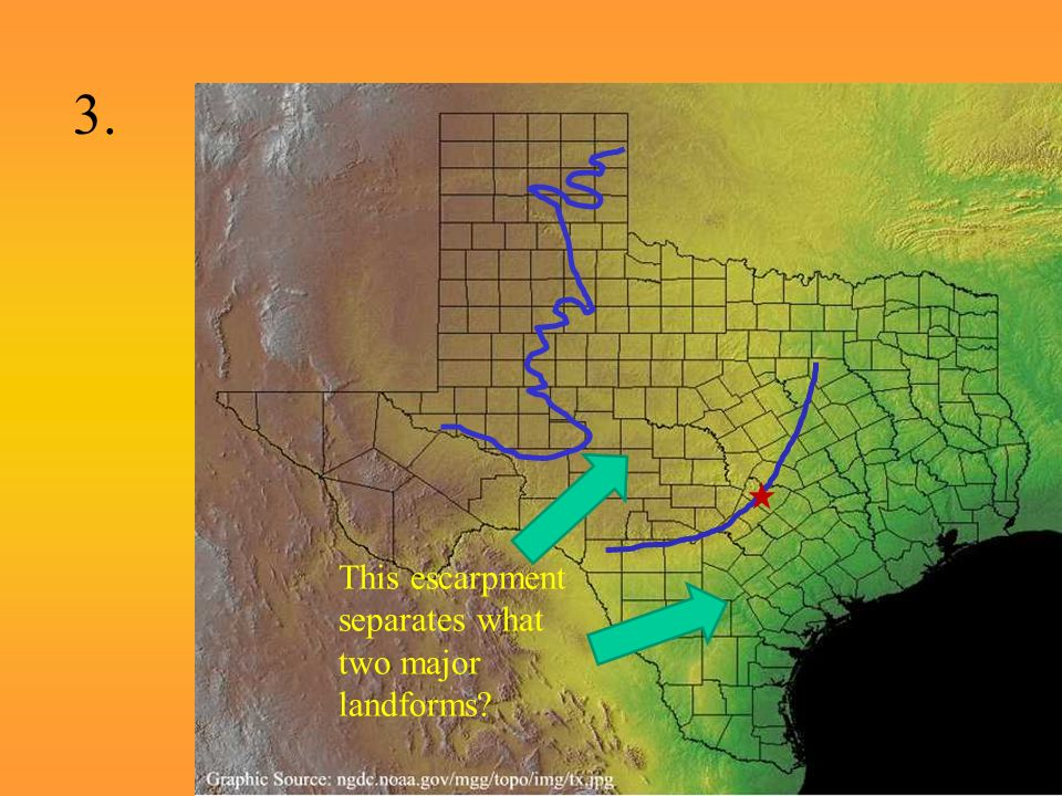 Landform Map Of Texas.Intro To The Major Landforms Of Texas And The Four Regions Of Texas