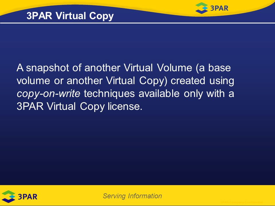 Hp 3par virtual copy user guide