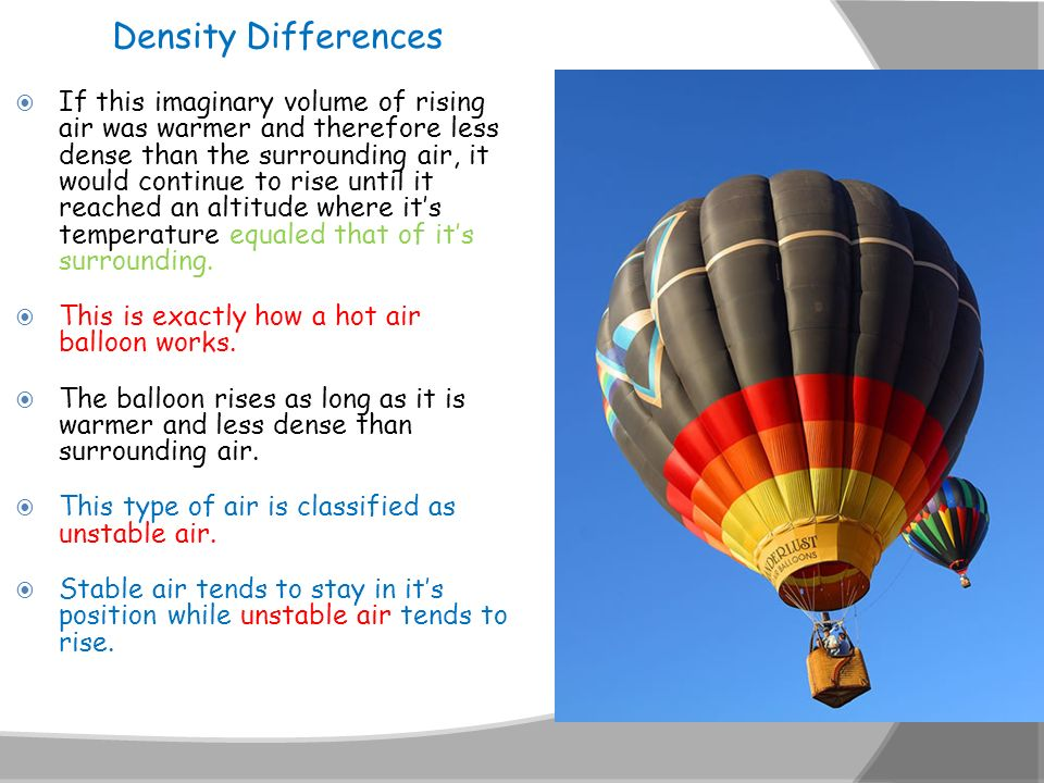Density Differences