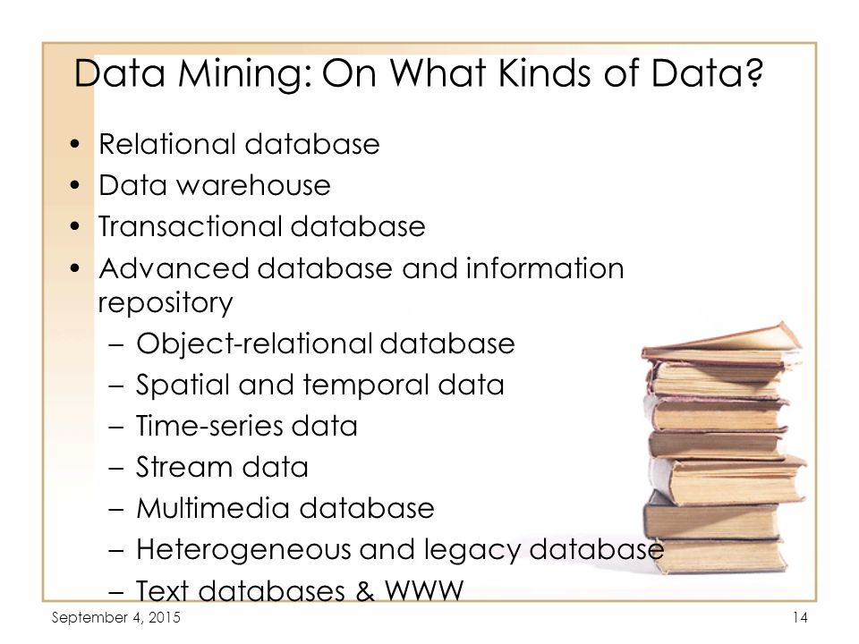 Data Mining: On What Kinds of Data