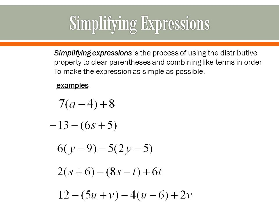 Simplifying Expressions By Combining Like Terms Worksheet - Worksheet List
