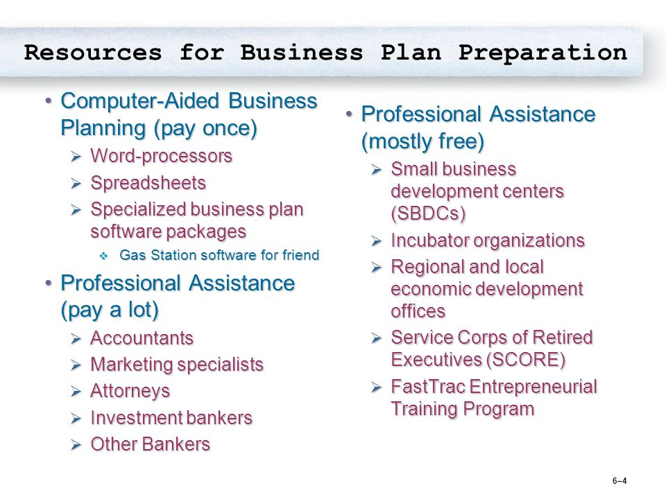 computer business plan