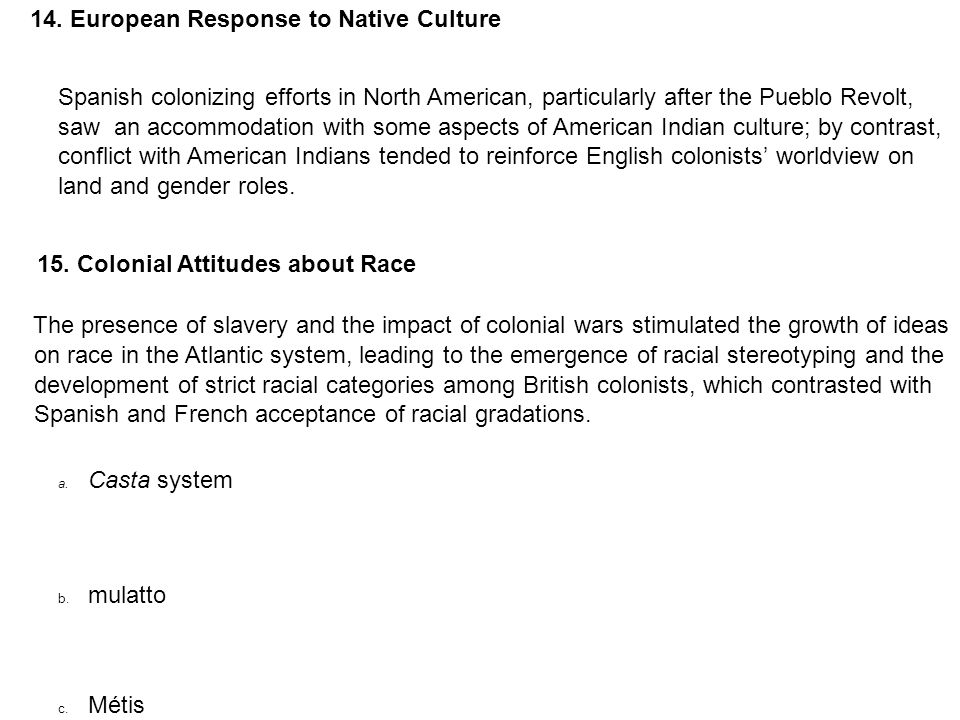 compare and contrast european and american indian culture