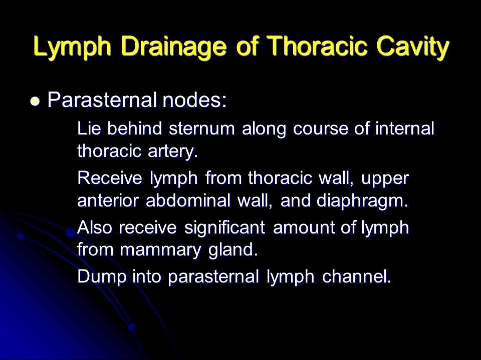 Lymph Drainage of Thoracic Cavity