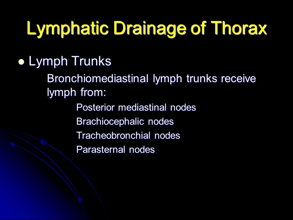 Lymphatic Drainage of Thorax