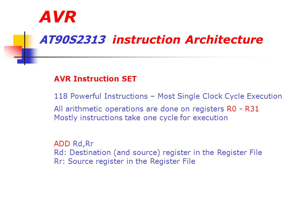 Avr Microcontrollers Ppt Video Online Download