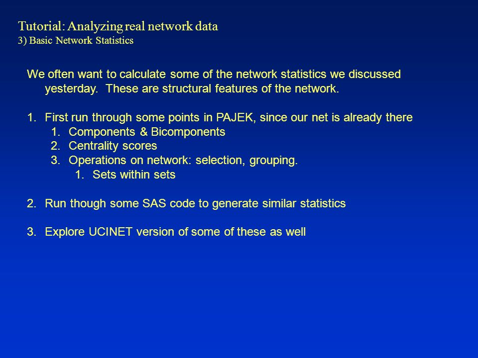 Tutorial: Analyzing real network data - ppt video online