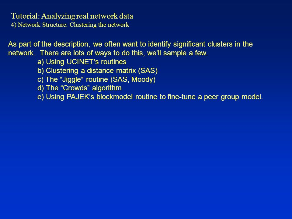 Tutorial: Analyzing real network data