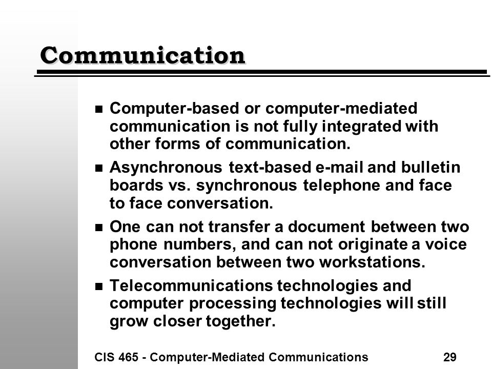 differences between face-to-face and computer-mediated communication