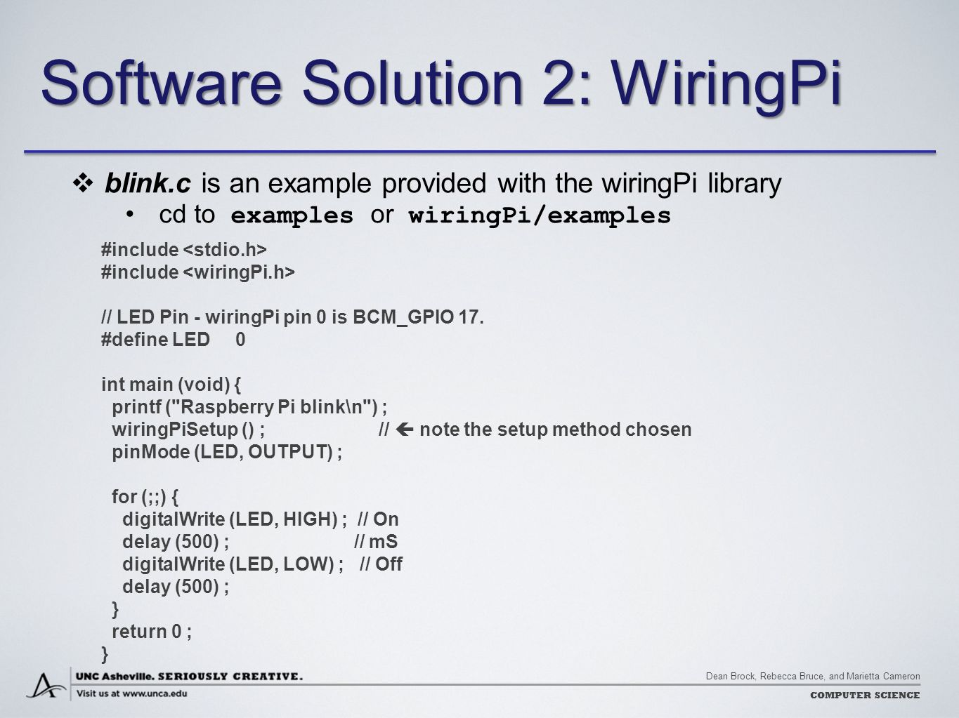 Super Wiringpi Blink C 2 Basic Electronics Wiring Diagram Wiring Cloud Hisonuggs Outletorg