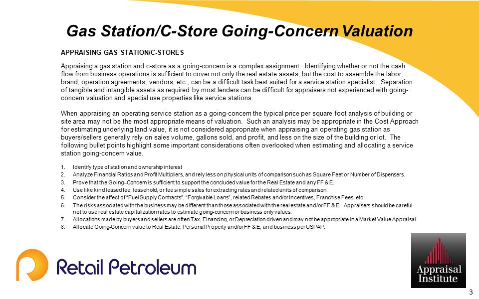 Gas Station/C-Store Going-Concern Valuation - ppt download