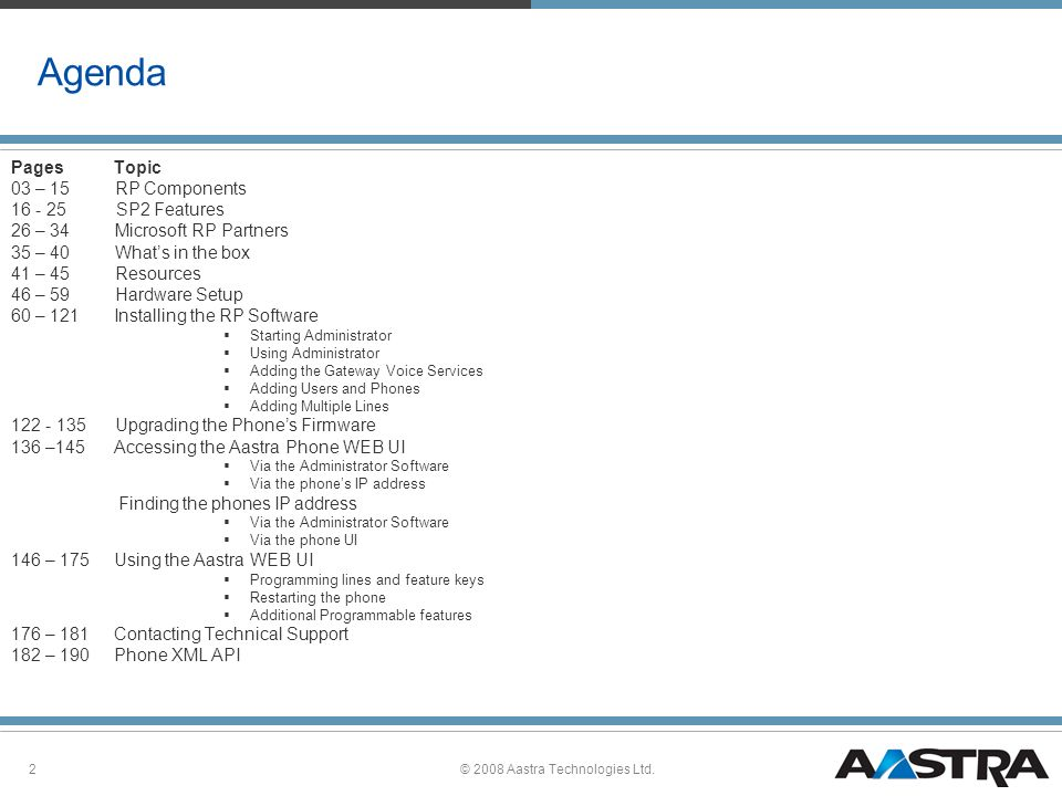 2008 Aastra Technologies Ltd  - ppt download