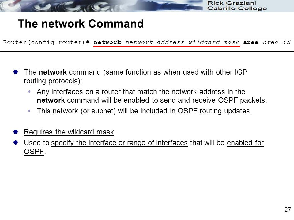 Chapter 11 OSPF CIS 82 Routing Protocols and Concepts Rick Graziani