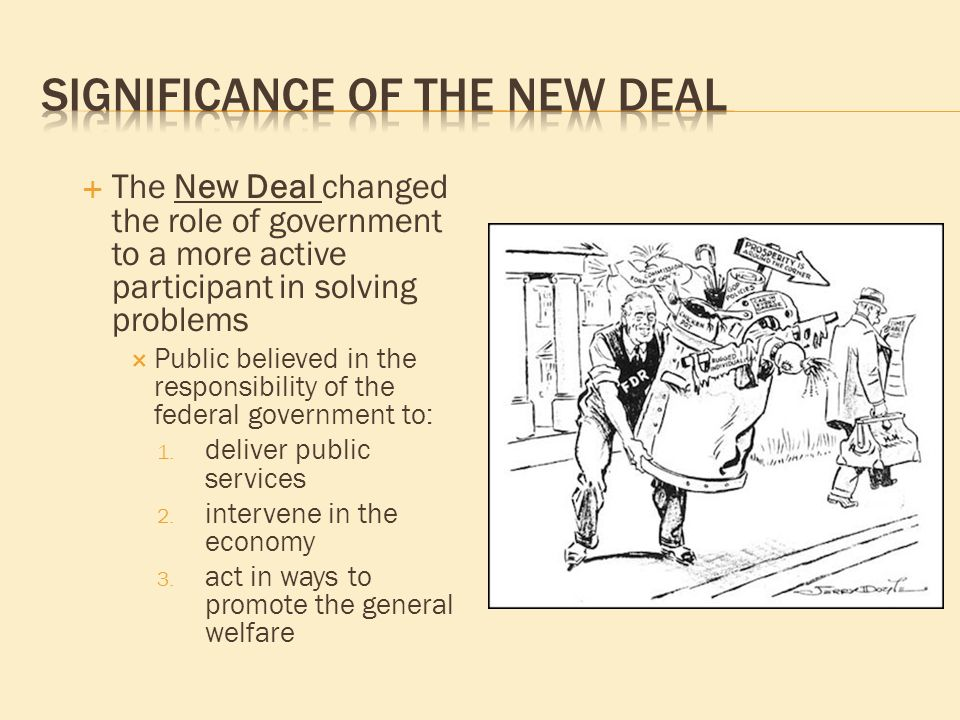 what was the significance of the new deal