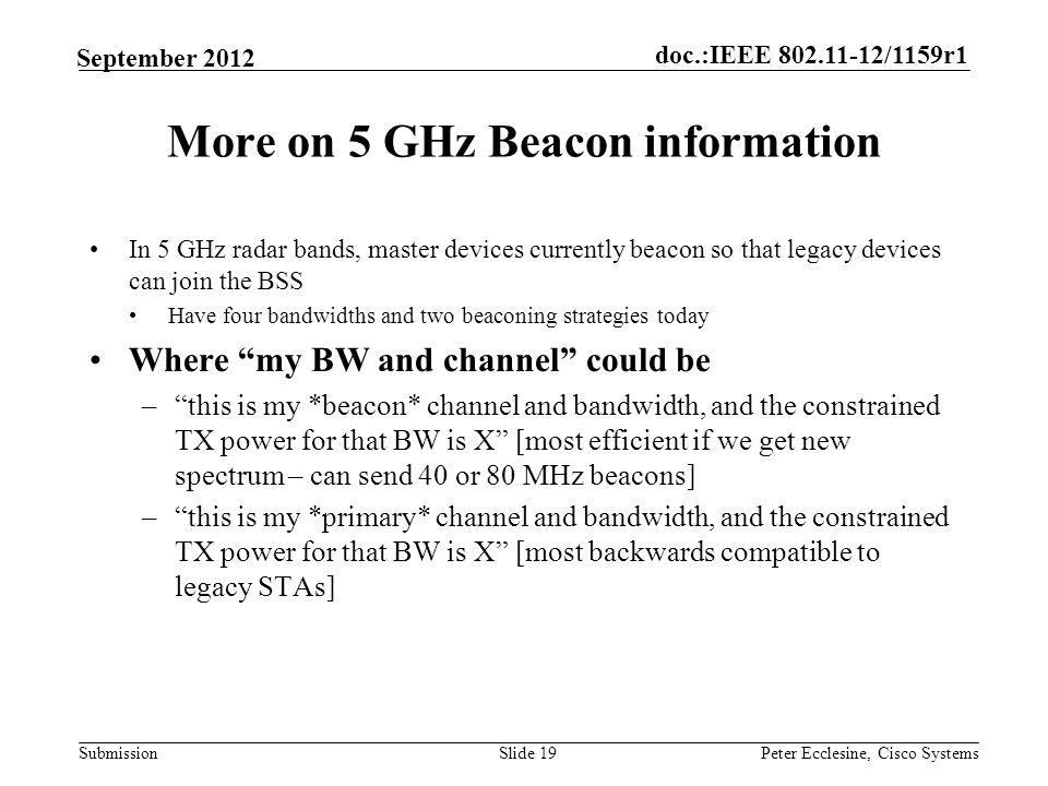 Cisco 3650 Beacon