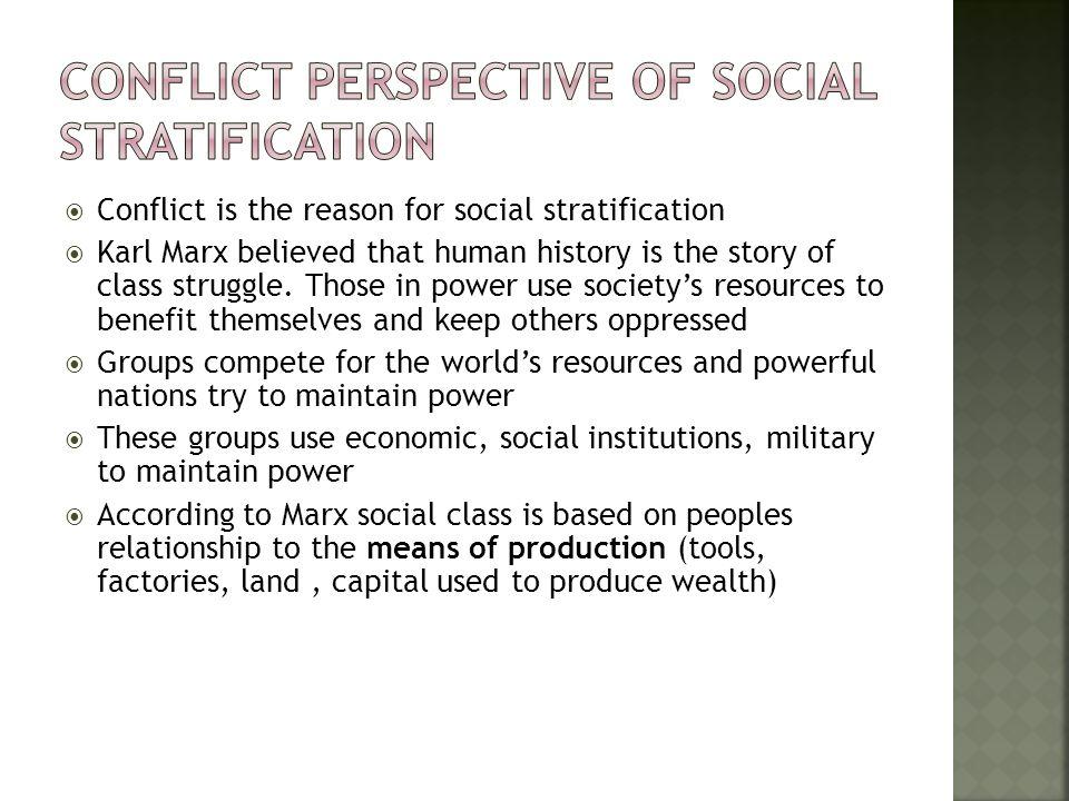 karl marx social stratification