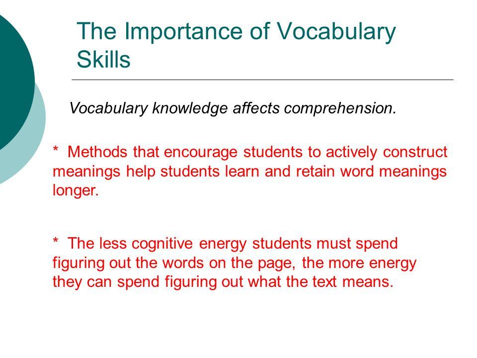 importance of vocabulary skills