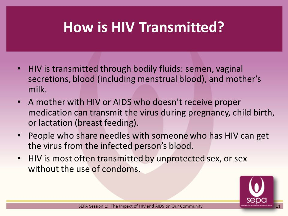 How easily is aids transmitted-4124