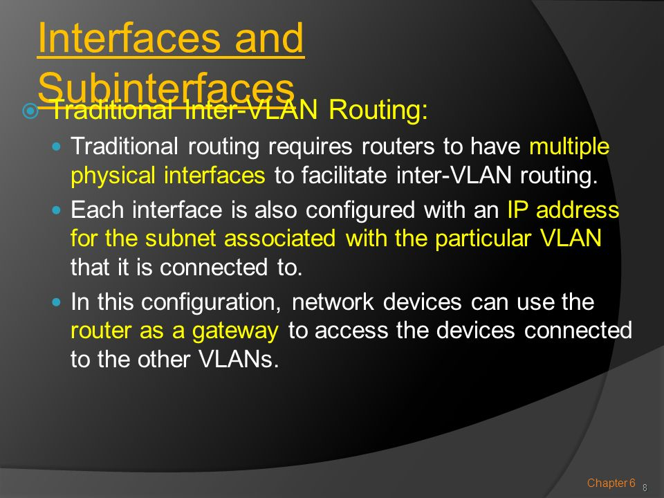 Interfaces and Subinterfaces