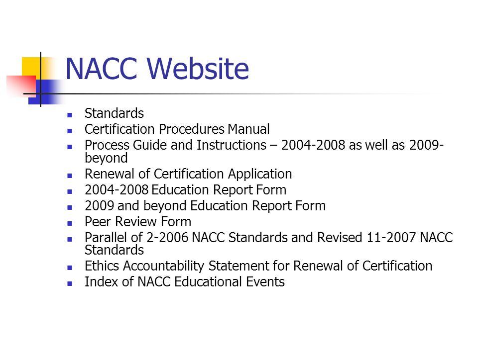 Nacc Renewal Of Certification Ppt Video Online Download